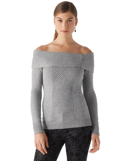 Ruched Cowl Neck Sweater
