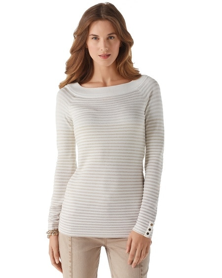 Ombre Stripe Shimmer Sweater