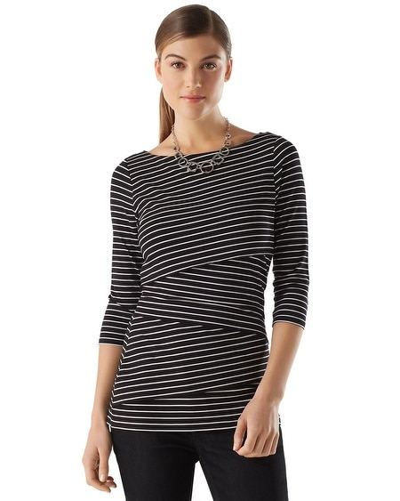Tiered Stripe Tee