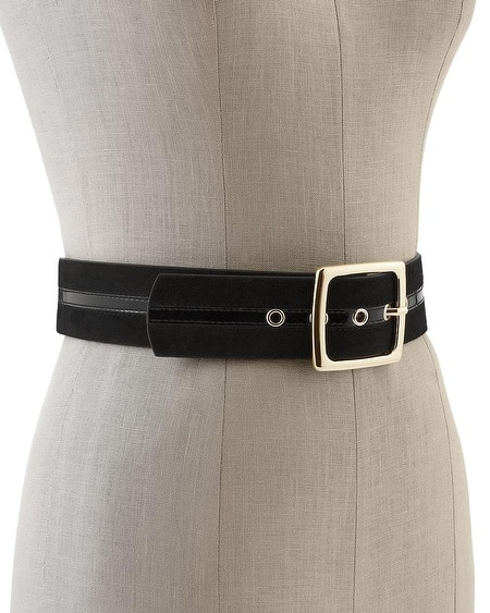 Patent Accent Stretch Belt