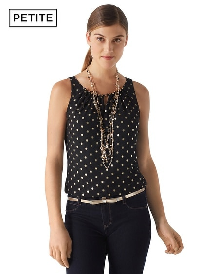 Petite Gold Dot Date Top