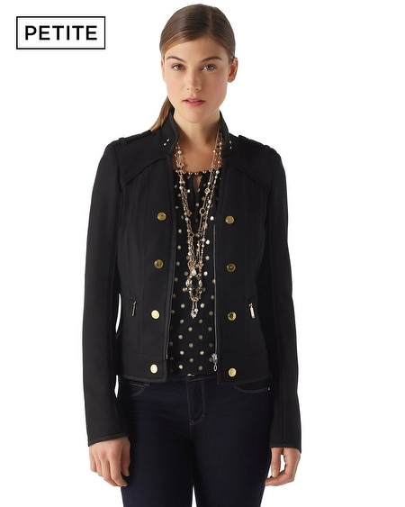 Petite Military Zip Jacket