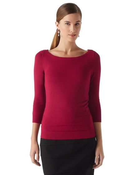 Bow Back Pullover Sweater
