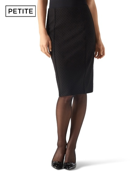 Petite Dot Knit Pencil Skirt