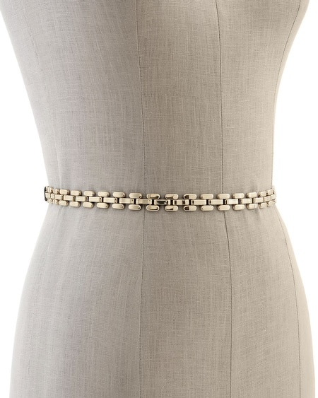 Skinny Metal Link Stretch Belt