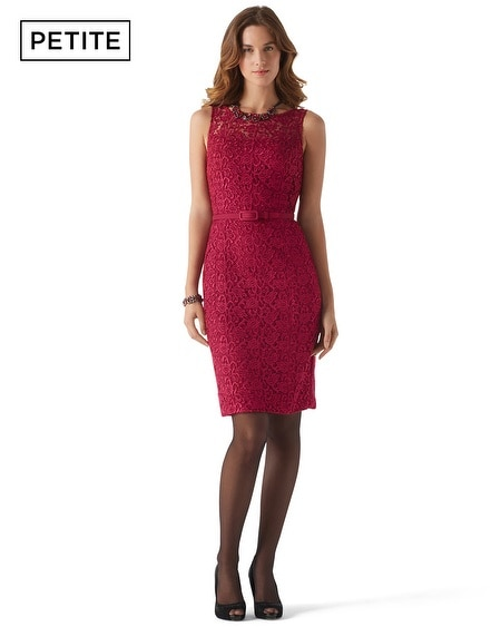 Petite Cardinal Guipure Lace  Dress