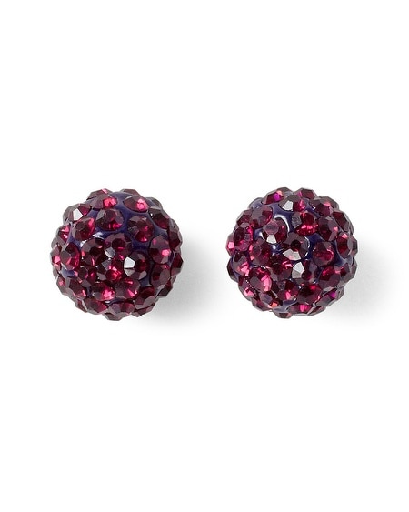 Imperial Purple Fireball Stud Earring