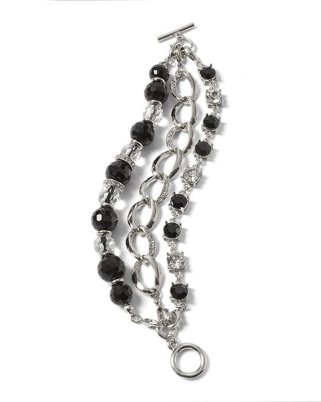 Black & White Crystal Convertible Bracelet