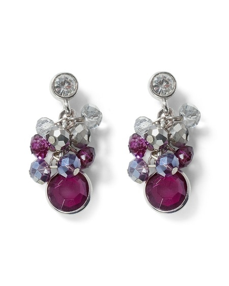 Imperial Purple Bauble Earring