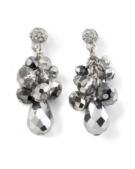 Metallic Gray Bauble Earring