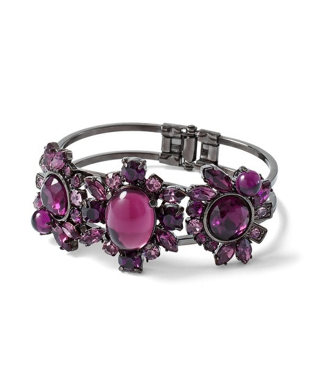 Imperial Purple Stone Bangle