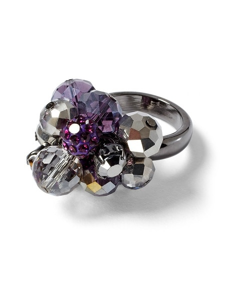 Imperial Purple Bauble Ring