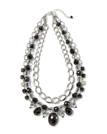 Black & White Crystal Convertible Necklace