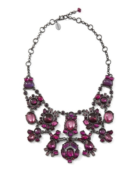 Imperial Purple Bib Necklace