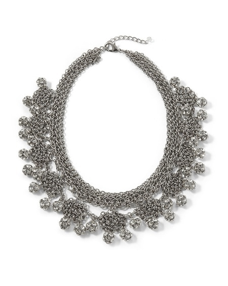 Chain Mail Fireball  Statement Necklace