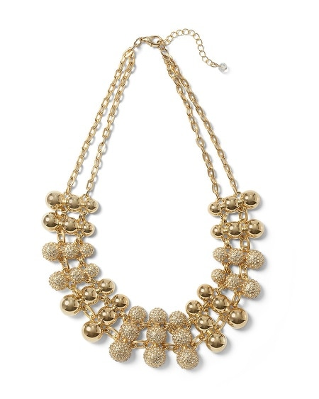 Goldtone Crystal Pave Collar
