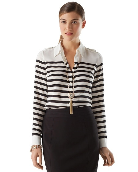 Movie Reel Stripe Blouse