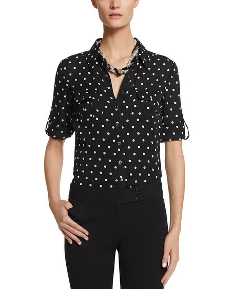 Silk Dot Shirt