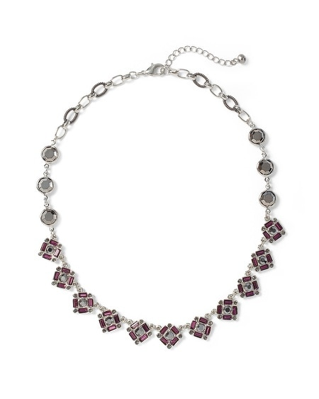 Imperial Purple Faceted Short Necklace