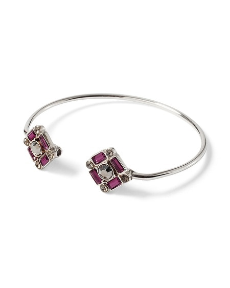 Imperial Purple Faceted Bangle