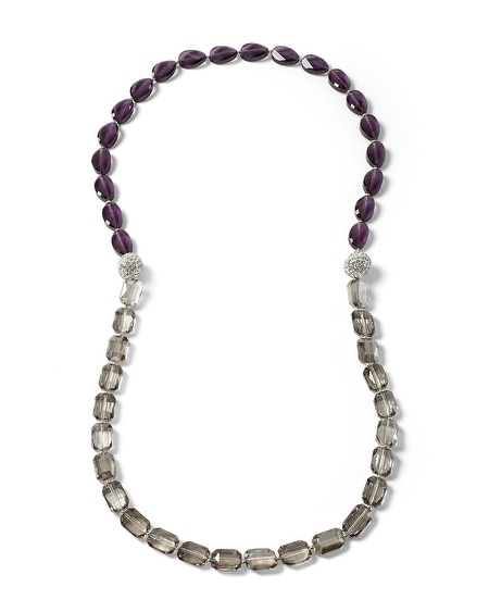 Imperial Purple Magnetic Fireball Convertible Necklace