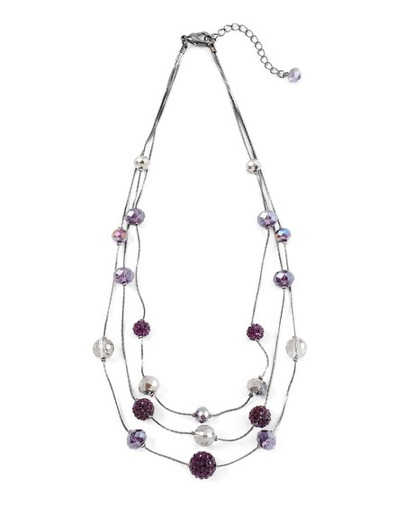 Imperial Purple Fireball Necklace