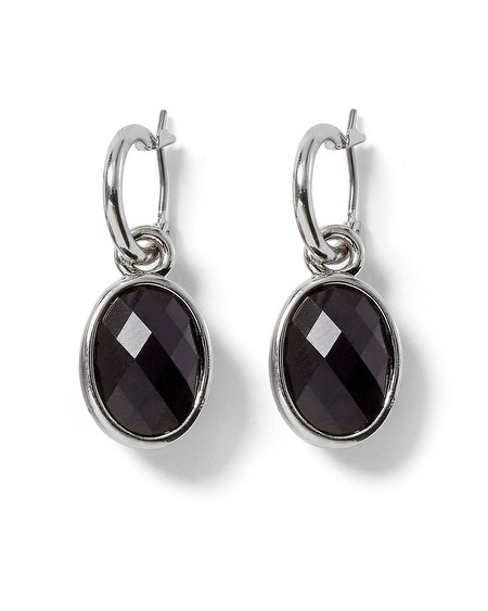 Reversible Imperial Purple/Black Drop Earring