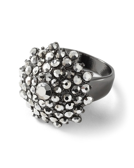 Metallic Gray Starbust Ring