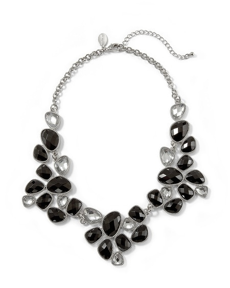 Black & White Crystal Short Necklace