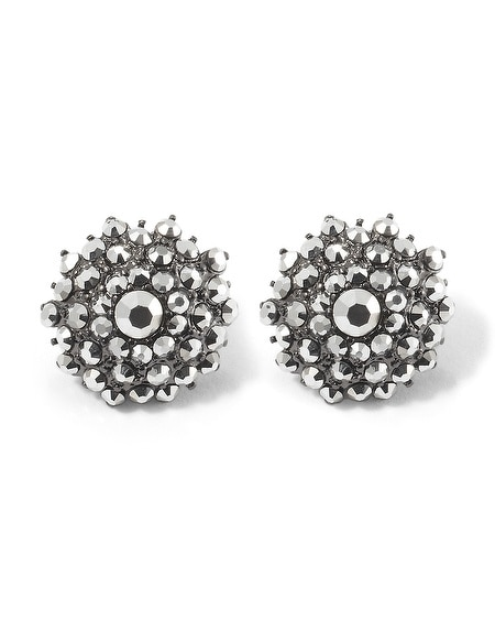 Metallic Gray Starbust Post Earring