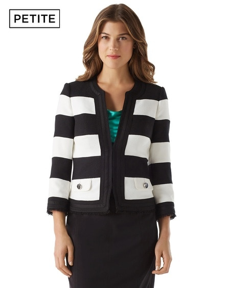 Petite Textured Stripe Jacket