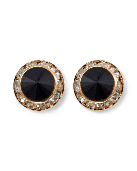 Jet/ Pave Crystal Earring