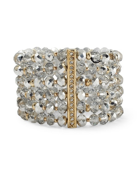 Gold/Silver Crystal Stretch Bracelet