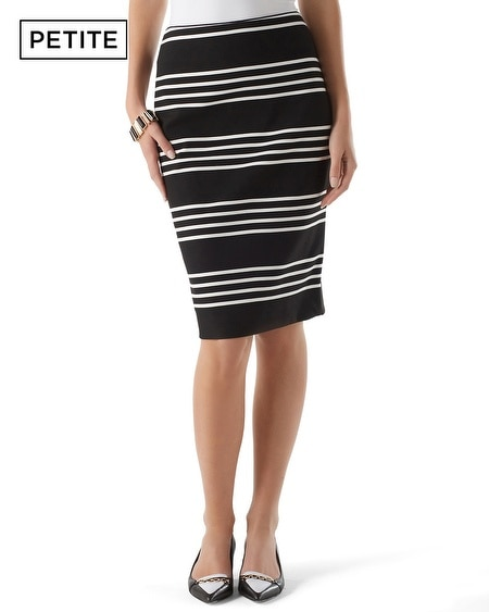 Petite Striped Ponte Pencil Skirt