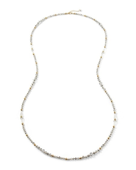 Gold/Silver Crystal Long Necklace