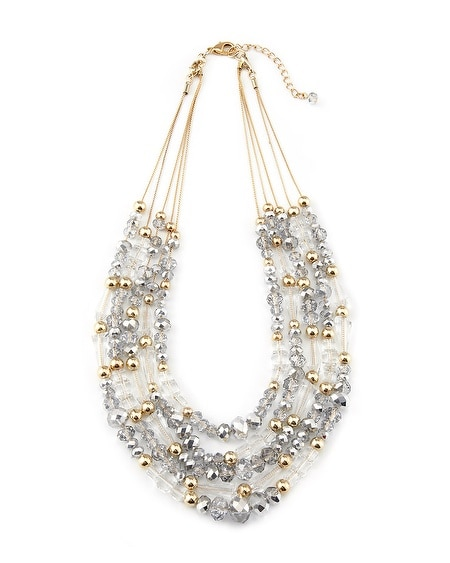 Gold/Silver Crystal Convertible Necklace