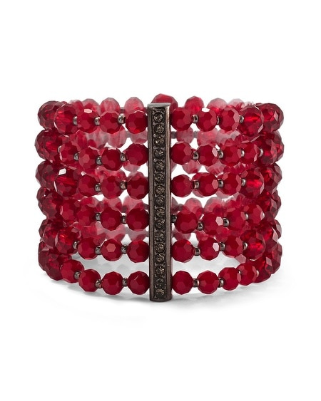 Cardinal Crystal Stretch Bracelet