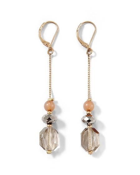 Gray/Blush Crystal Linear Earring