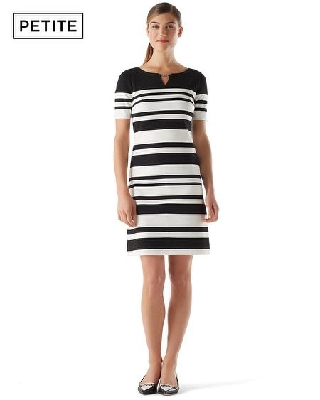 Petite Striped Shift Dress