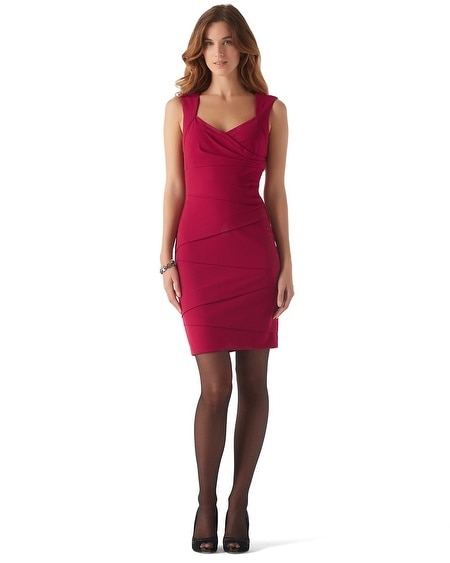 Sleeveless Red Cardinal Instantly Slimming Dress
