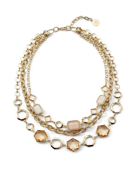 Hexagon Triple Convertible Necklace