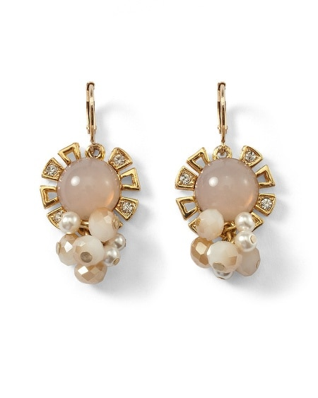 Neutral/Glass Pearl Bauble Earring