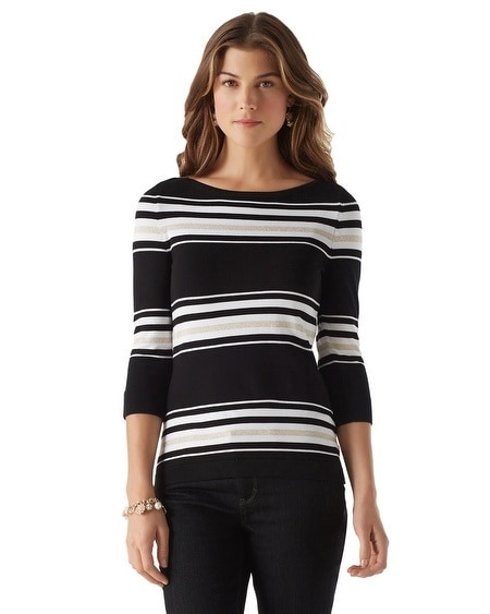 Boatneck Stripe Sweater