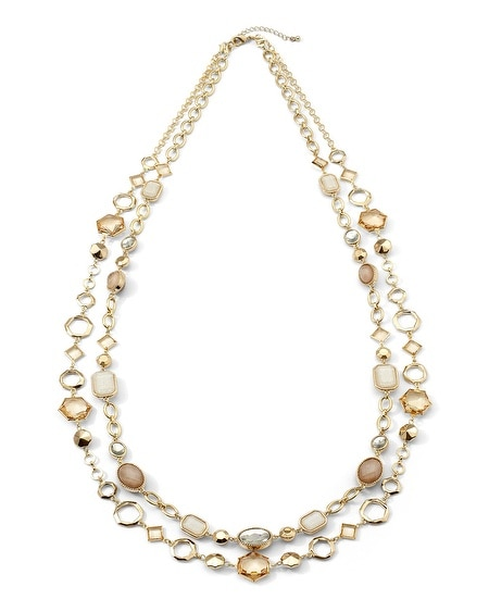 Oval/Hexagon Convertible Necklace