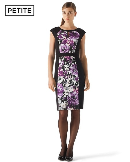 Petite Floral Paneled Dress