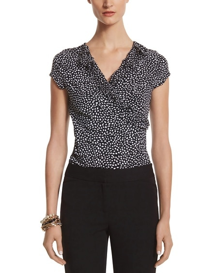 Dot Surplice Top