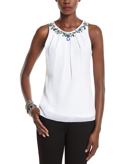 Jeweled Necklace Tank