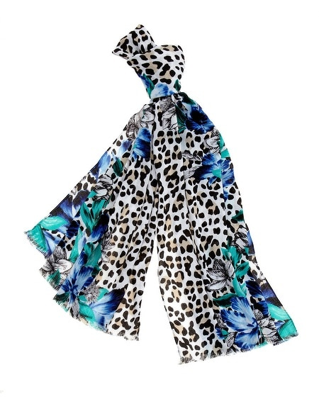 Leopard/Floral Scarf