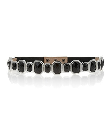 Black Stone Stretch Belt