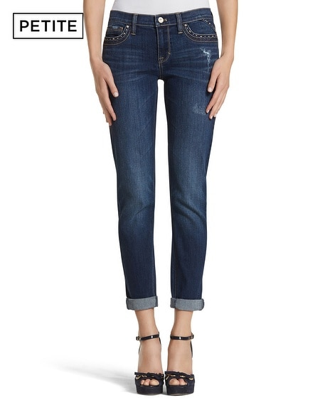 Petite Saint Honore Distressed Girlfriend Jean